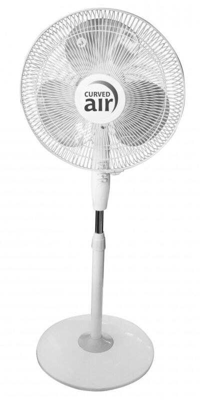 Curved Air Fan Pedestal 16 Inch White 1 Each CXE4210: $180.00