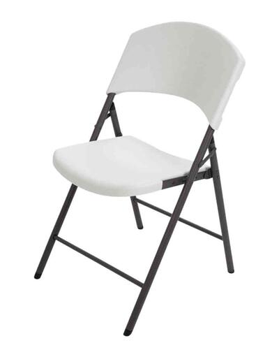 Lifetime Contoured Folding Chair White 1 Each 2810: $185.18