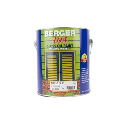 Berger 404 Gloss Accent Base 1 Gallon P113301: $124.03