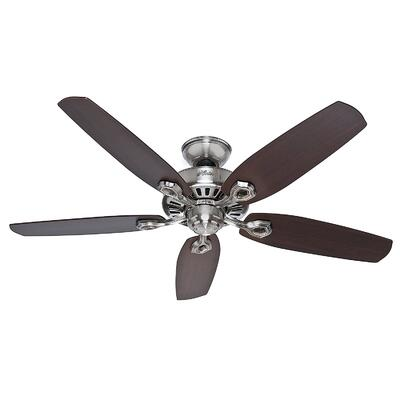 Hunter Fan Ceiling Builders Elite 52 Inch Brushed Nickel 1 Each 50566: $473.82