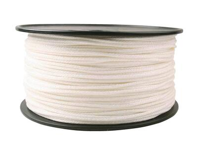 Do It Best  Braided Nylon Rope 5/32x1000 Foot  White 1 Each 768388: $0.30