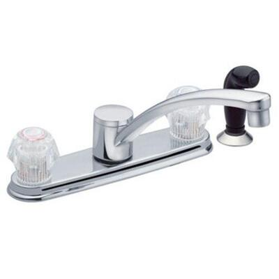 Moen Kitchen Faucet With Side Spray 2H Chrome 1 Each CA87681: $279.45