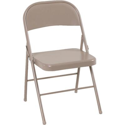 Cosco Folding Chair Steel Beige 1 Each 14-711-ANT4: $102.08