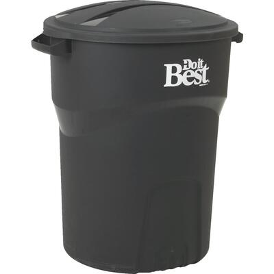 Do It Best Trash Can 32 Gallon Black 1 Each 608017: $124.49