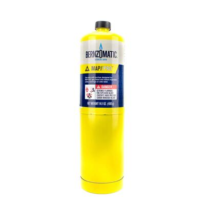 Bernzomatic Map-Pro Fuel Cylinder  14.1oz 1 Each 332585: $34.85