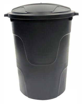 Trash Can With Lid 32 Gallon Black 1 Each 1332BLK-TV: $98.75